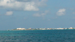 Approaching Isla Mujeres Mexico