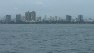 San Juan Puerto Rico skyline as we approach